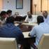 الامين العام للجمعية يجتمع مع وفد من جمعية الهلال الاحمرالليبي